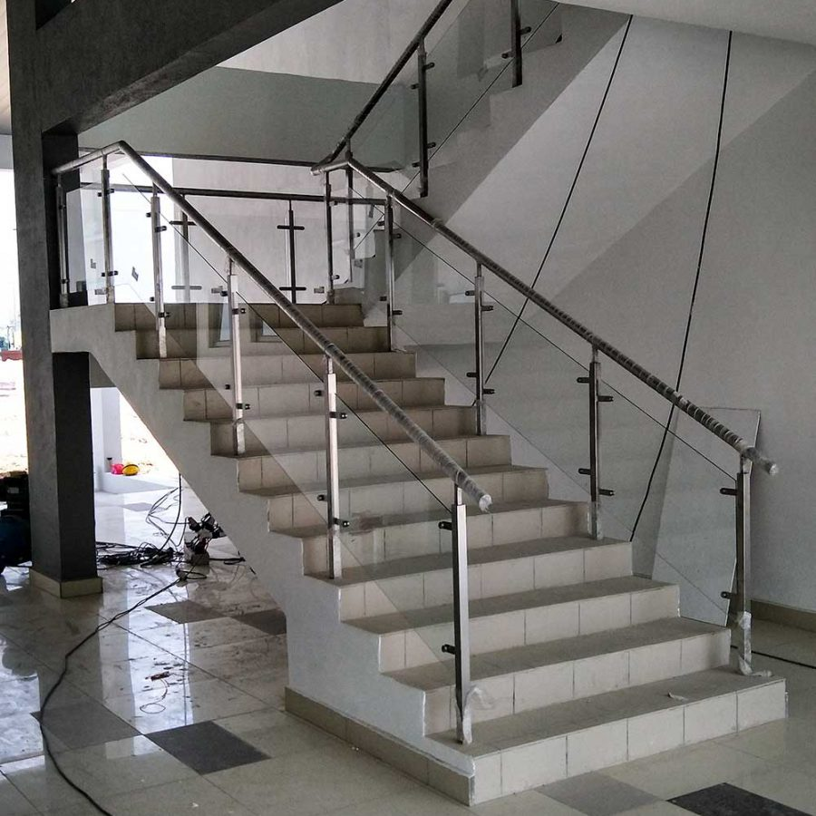 stainless steel railing installed by tw stainless steel at WCE office